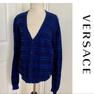 Versace Cardigan sweater size large Top Shirt